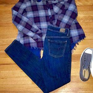 American Eagle Long Hi Rise Skinny Jeans